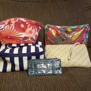 Lot of cosmetic bags and wallet